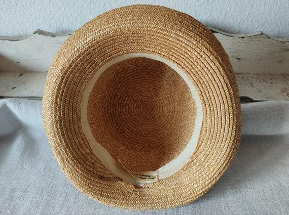 Easter in vintage straw hat sun hat summer hat - image 9