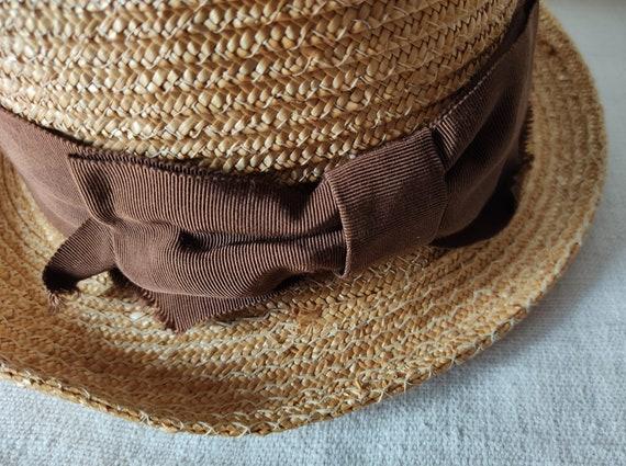 Easter in vintage straw hat sun hat summer hat - image 7