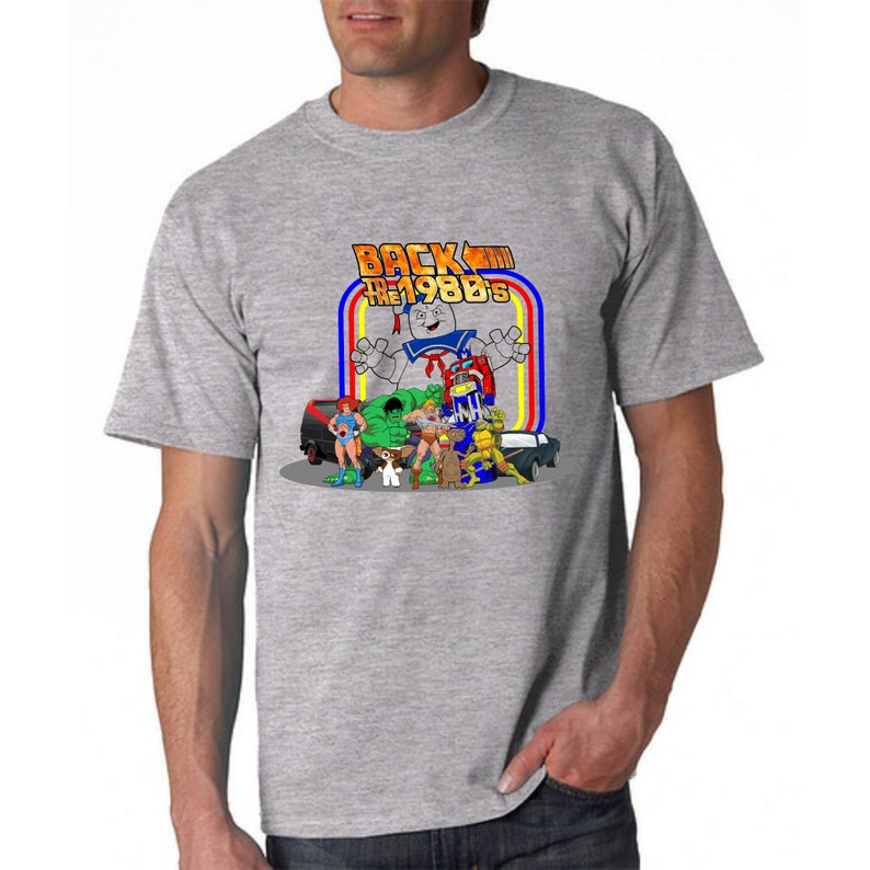 Back to the 1980s Cartoon Characters T-shirt