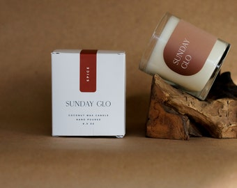 Spice Scented Soy & Coconut Wax Candle