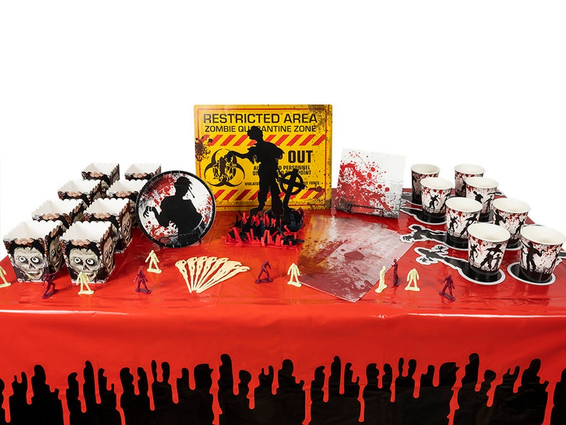 Zombie Party Walking Dead In A Box Birthday Supplies Centerpiece Decorations Favors