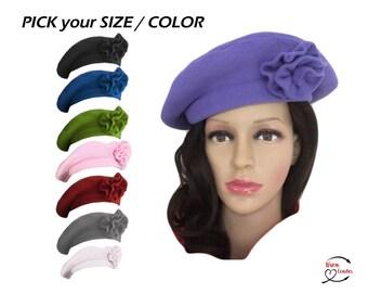 8d5e76e9fdce0 ANTI-PILL PLUSH fleece French Beret Hat