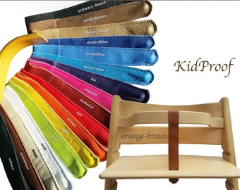 KidProof Eco Genuine Leather Strap Compatible with Stokke Tripp Trapp for Temple