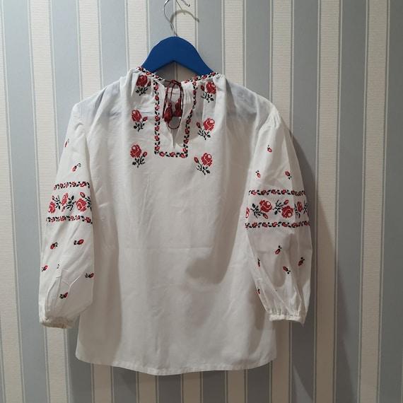 Ukrainian children's blouse, vintage, antique, emb