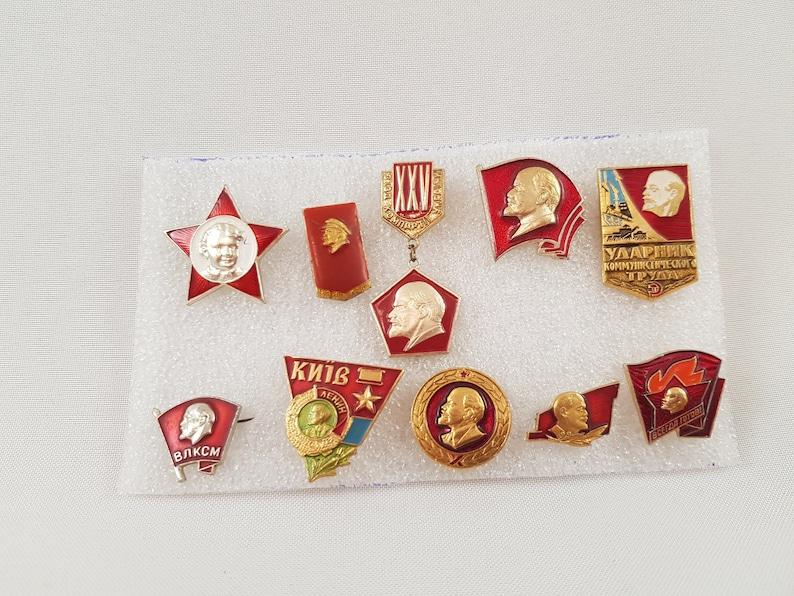 badges Russian/_Revolution propaganda communist revolution soviet badges pins pin Vladimir Lenin,Soviet propaganda badges