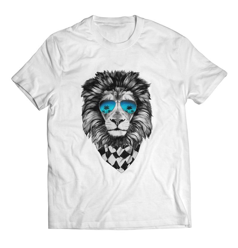 e92b989a Limited Edition of Lion with Ray Ban Glasses T Shirts Lion | Etsy