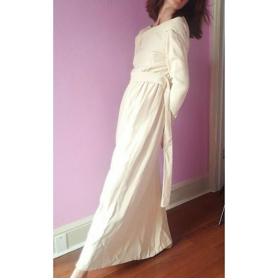 Vintage Norell-Tassell Gown-Ivory Silk Crepe-ILGWU