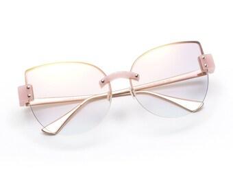 d21ea062473 GEMELLI Kitten Cartel black cat eye sunglasses black   gold