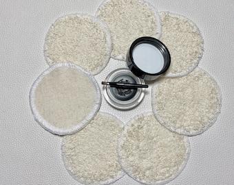 Make-up pads, cosmetic pads, 7 pcs. Eco-friendly, reusable, washable, zero waste 100% cotton Eco-Tex Standard 100, 7.5 cm