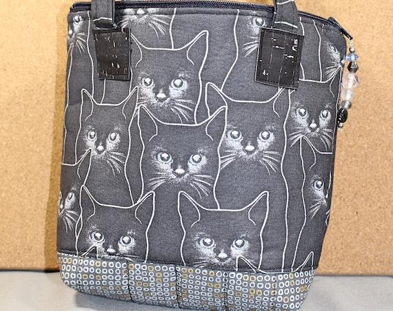 Silver Cat Bag | Blue Bead