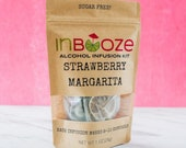 Strawberry Margarita Cocktail Kit to Infuse Tequila by InBooze® - a warm weather favorite!