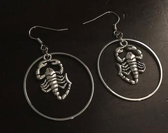 b9092b32819ba Scorpion earrings | Etsy
