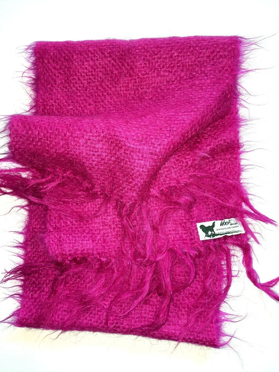 Canadian WOOL Scarf MOHAIR Scarf WOOF Designs Newf