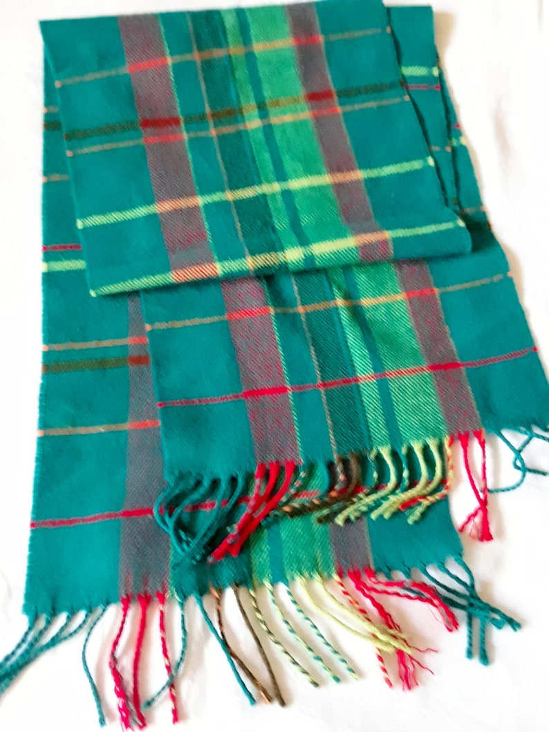 Men Women unisex 100/% CASHMERE Scarf Pure Plain thick stripe Soft Wool SCOTLAND