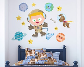 Space Combo   Space Wall Decal   Fabric Wall Decal   Space Room Decor   Kids Wallpaper