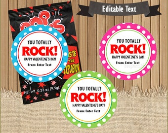 picture relating to Pop Rocks Valentines Printable called On your own rock printable Etsy