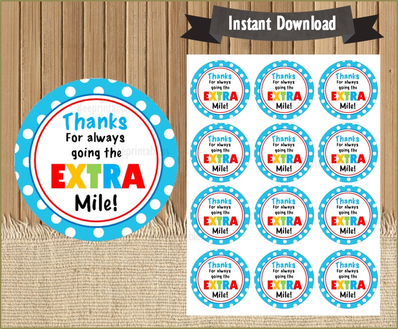 picture about Thanks for Going the Extra Mile Printable identified as Due for heading the Excess mile Tag, Instructor Appreciation Reward Tags, Gum Thank Your self Tag, Printable, Editable, Custom-made Fast Down load