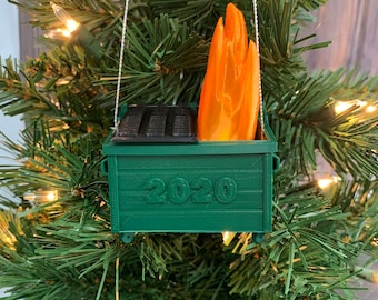 Year to Forget,My First Keepsake green Personalized Dumpster Fire Memento 2020 Pandemic Ornament Funny Christmas Ornament Quarantine