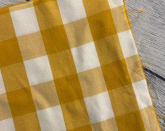 LARGE mustard yellow plaid booksleeve