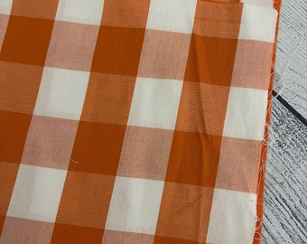MEDIUM orange plaid booksleeve