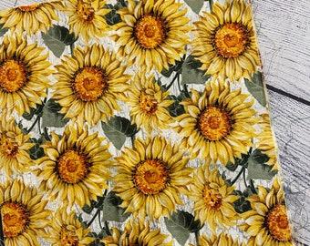 LARGE sunflower booksleeve