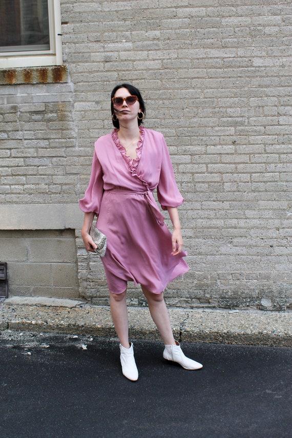 Vintage Dress/ Midi Dress/ Lilac Dress/ Vintage W… - image 2