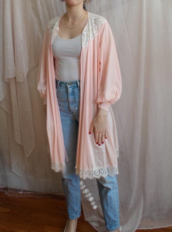 Vintage Robe/ 70s Fashion/ Vintage Lingerie/ Past… - image 2