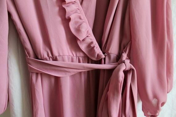 Vintage Dress/ Midi Dress/ Lilac Dress/ Vintage W… - image 5