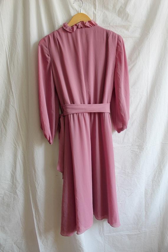 Vintage Dress/ Midi Dress/ Lilac Dress/ Vintage W… - image 7