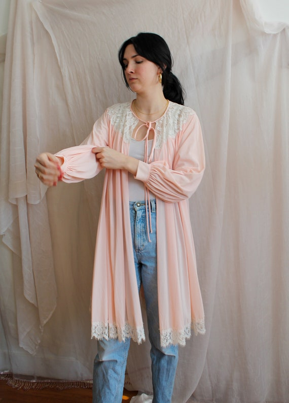 Vintage Robe/ 70s Fashion/ Vintage Lingerie/ Past… - image 1