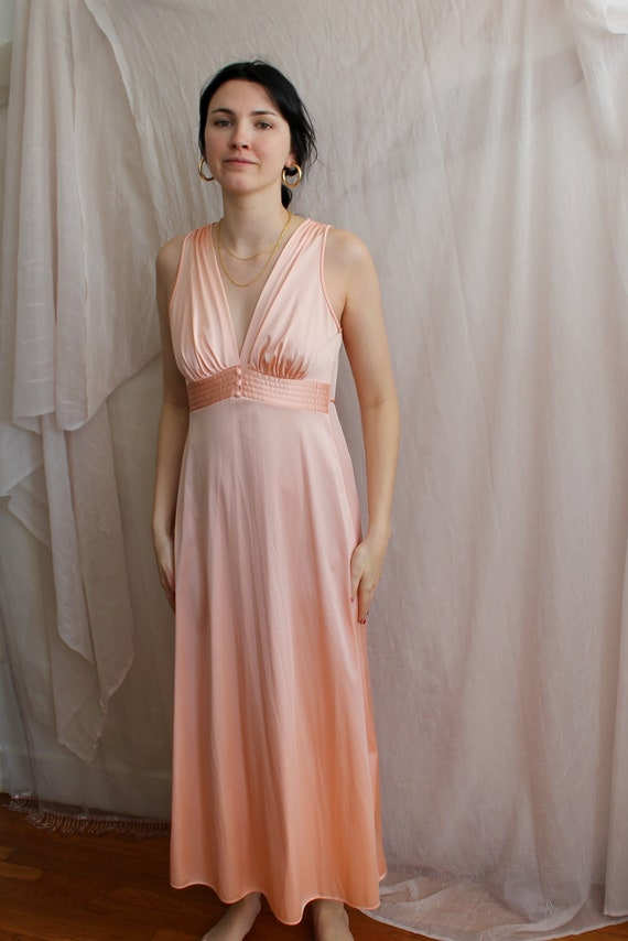 Vintage Slip Dress / Floor Length Dress / Maxi Dre