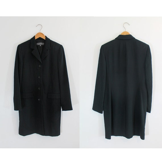 Vintage Blazer/ 90s Fashion/ Oversized/ Black Blaz