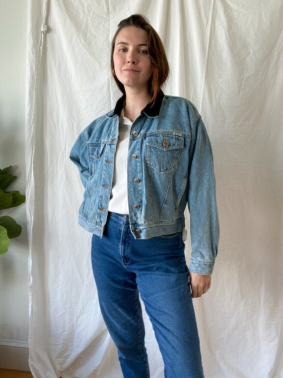 Vintage Denim Jacket/ 90s Fashion/ Jean Jacket/ Vi