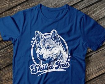 b7c2629e Shiba Inu Retro Unisex T-Shirt, Shiba Inu Shirt, Shiba Shirt, Shiba Inu T  Shirt, Shiba t shirt, Vintage Style Shiba Inu Tee