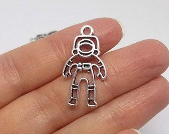 Astronaut Vintage Charm Earring Spaceman Moonwalker Cosmonaut Space person rocket Space vintage Charm 1960