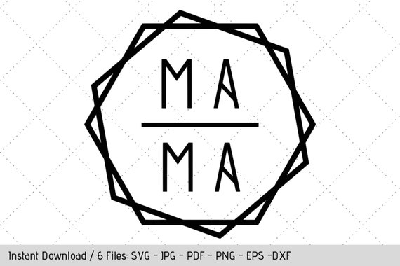 Hexagon Mama Svg Design For T Shirt Tumbler Decal Diy Vinyl Decals By Werk It Girl Supply Catch My Party