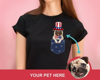 2b133ed22 4th JULY SHIRT for WOMEN Dog Lover. Independence day funny t shirt for  Women. Custom Dog Lover Shirt for humans. Personalized dog shirt.
