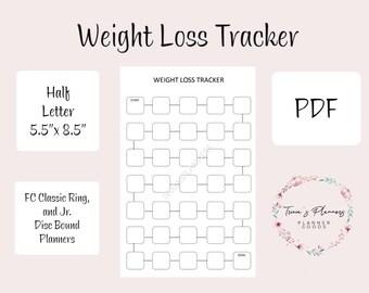 weight loss tracker etsy