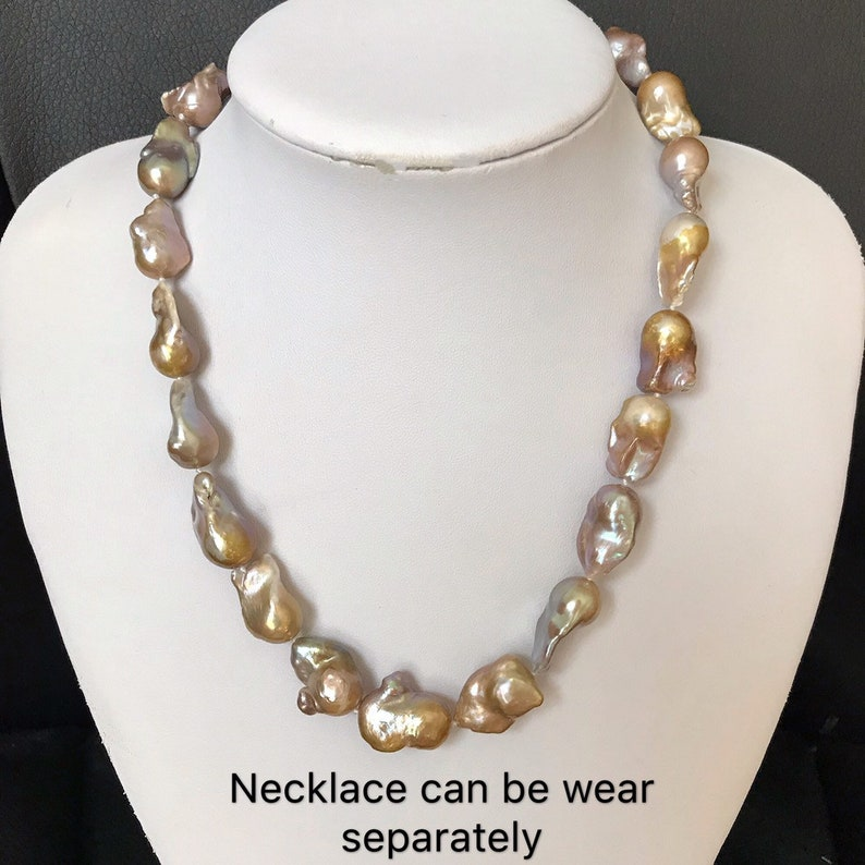 Baroque Pearl Necklace Double strand Freshwater pearl necklace,Double strand Baroque pearl necklace,pearl necklace