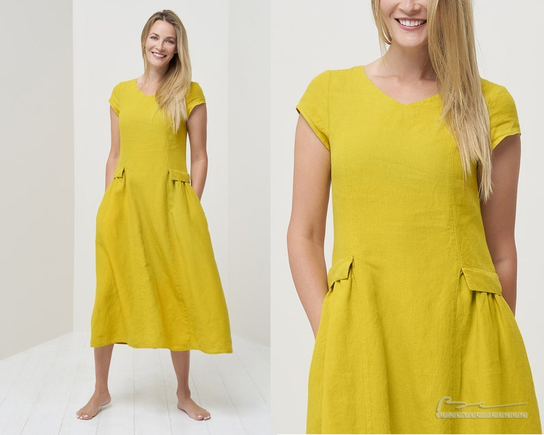 Pure linen dress Linen dress Summer linen dress Flax dress acQbD7hN