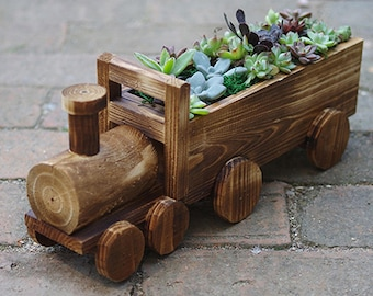 Train Car Planter Etsy