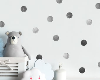 Watercolor Gray Polka Dot Wall Decals   Wall Decor, Nursery Decor, Confetti  Decals, Wall Art, Kids Room Decal, Sprinkle Decals
