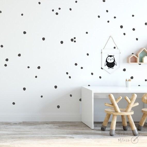 Irregular Dalmatians Mini dots 0.6 wall sticker many colors Nursery decorations Girl room Boy room Nursery decal black dots