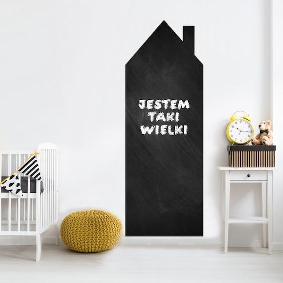 Tafel Haus. Kreidehaus Wandtafel. Wandtattoo. Wandaufkleber. Wohnkultur  Aufkleber. Schwarze Tafelabziehbilder. Abnehmbarer Aufkleber.