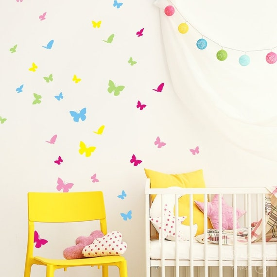 butterfly in the room butterfly wall sticker bedroom wall decal nursery  decal butterflies wall decal girls room sticker gift 5 colors