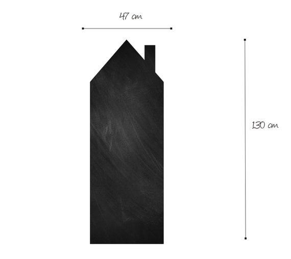 Tafel Haus Kreidehaus Wandtafel Wandtattoo Wandaufkleber Wohnkultur Aufkleber Schwarze Tafelabziehbilder Abnehmbarer Aufkleber