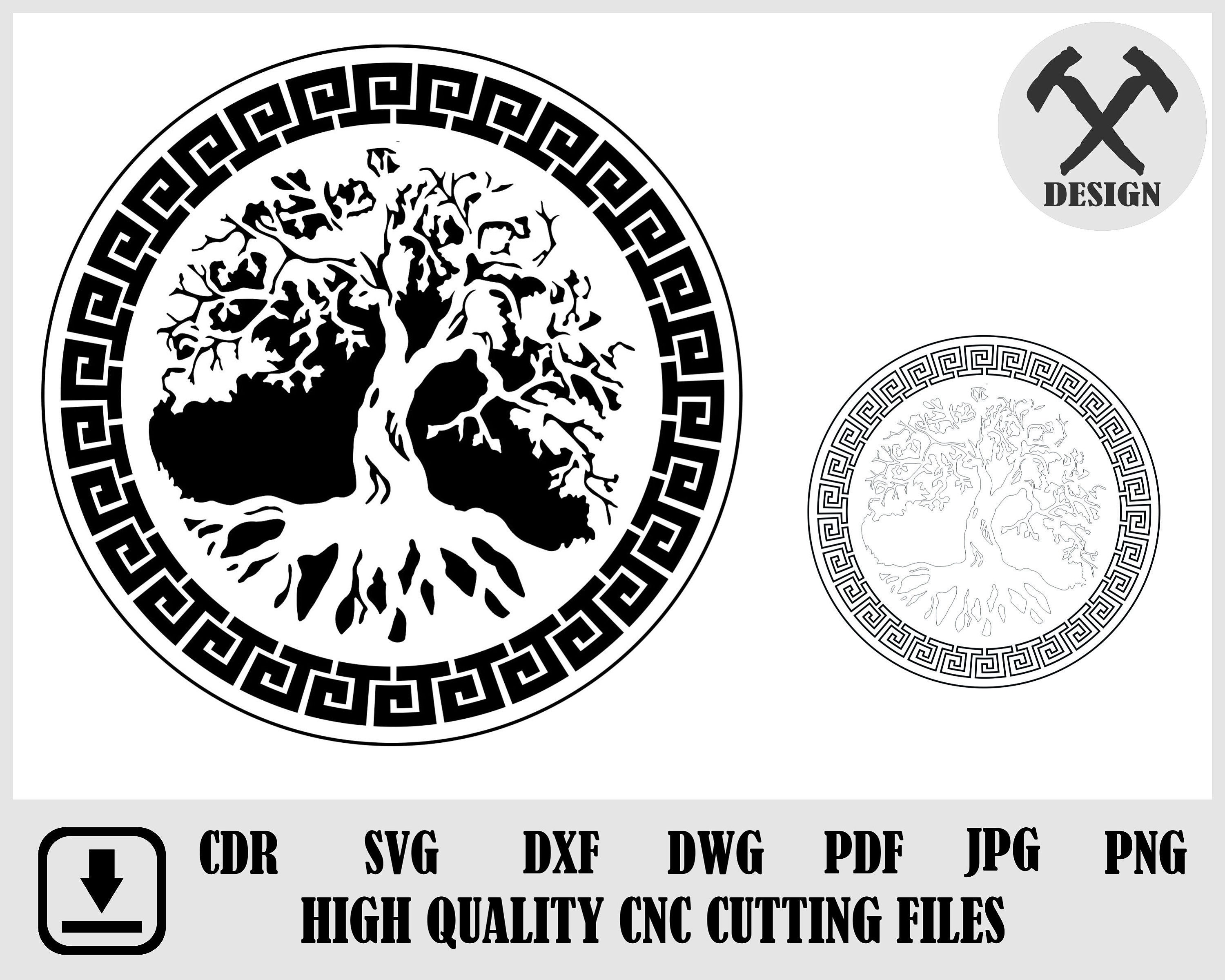 2d Tree Traditional Design Pannel for laser cutting Templates | Etsy