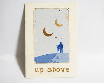 Up Above // zine (2nd edition with a postcard)