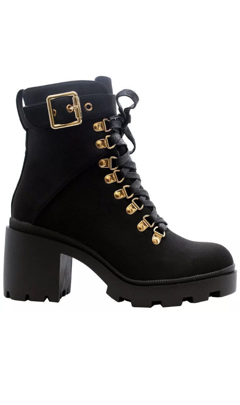 Chunky Buckle Ankle Boot