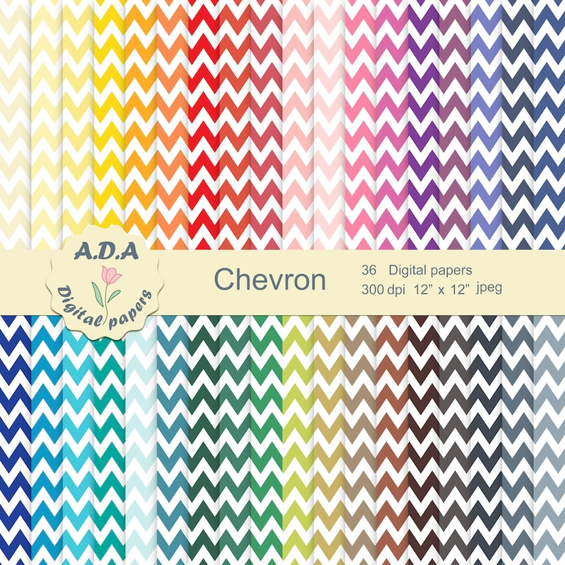 graphic relating to Printable Chevron Pattern named Chevron printable electronic paper pack, chevron behavior, chevron record, printable chevron routine, 36 shades chevron, industrial retain the services of